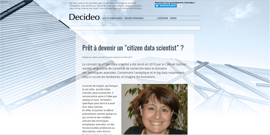 Devenez un citizen data scientist