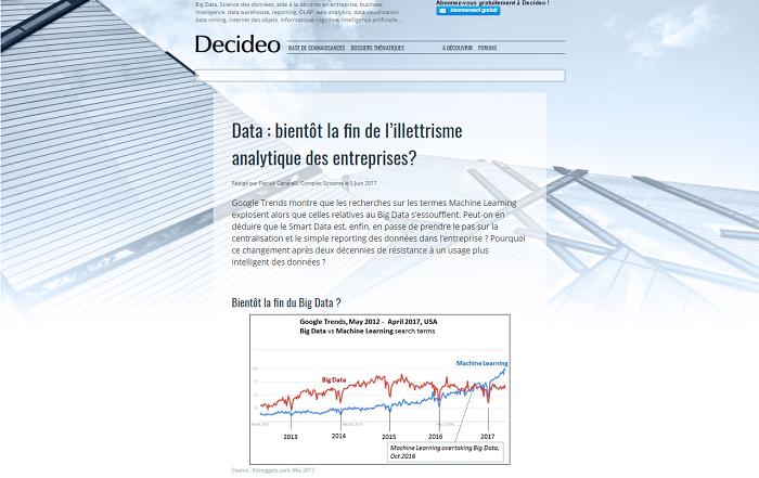 Big data vs machine learning